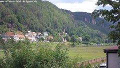 view from Webcam in Bad Schandau Sächsische Schweiz on 2019-06-13