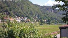 view from Webcam in Bad Schandau Sächsische Schweiz on 2019-06-17