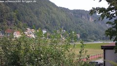 view from Webcam in Bad Schandau Sächsische Schweiz on 2019-08-06