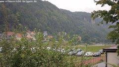 view from Webcam in Bad Schandau Sächsische Schweiz on 2019-08-10