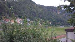view from Webcam in Bad Schandau Sächsische Schweiz on 2019-08-15