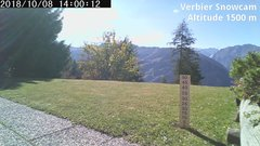 view from Verbier Snowcam2 on 2018-10-08