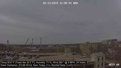 view from University Place Apartments - West Weather on 2019-02-13