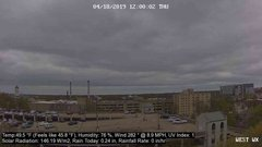 view from University Place Apartments - West Weather on 2019-04-18