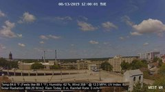 view from University Place Apartments - West Weather on 2019-08-13