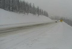 view from 4 - Highway 50 Road Conditions on 2019-02-19