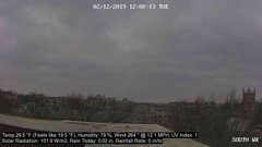 view from University Place Apartments - South Weather on 2019-02-12