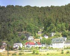 view from Webcam in Bad Schandau, Krippen & Postelwitz on 2018-08-09