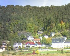 view from Webcam in Bad Schandau, Krippen & Postelwitz on 2018-10-08