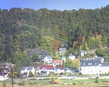 view from Webcam in Bad Schandau, Krippen & Postelwitz on 2018-10-12