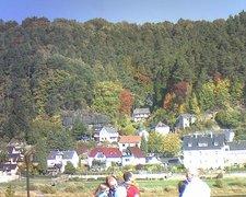 view from Webcam in Bad Schandau, Krippen & Postelwitz on 2018-10-13