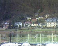 view from Webcam in Bad Schandau, Krippen & Postelwitz on 2019-02-10