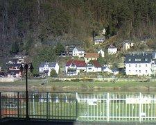view from Webcam in Bad Schandau, Krippen & Postelwitz on 2019-02-15
