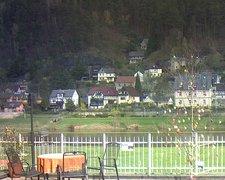 view from Webcam in Bad Schandau, Krippen & Postelwitz on 2019-04-08