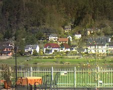 view from Webcam in Bad Schandau, Krippen & Postelwitz on 2019-04-16