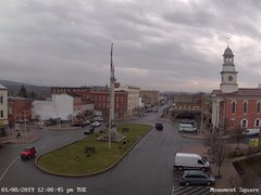view from 13 East Market Street - Lewistown PA (west) on 2019-01-08