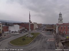view from 13 East Market Street - Lewistown PA (west) on 2019-01-19