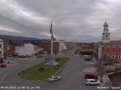 view from 13 East Market Street - Lewistown PA (west) on 2019-04-05