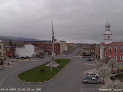 view from 13 East Market Street - Lewistown PA (west) on 2019-04-14