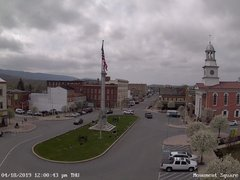 view from 13 East Market Street - Lewistown PA (west) on 2019-04-18