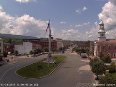 view from 13 East Market Street - Lewistown PA (west) on 2019-07-24