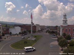view from 13 East Market Street - Lewistown PA (west) on 2019-07-29