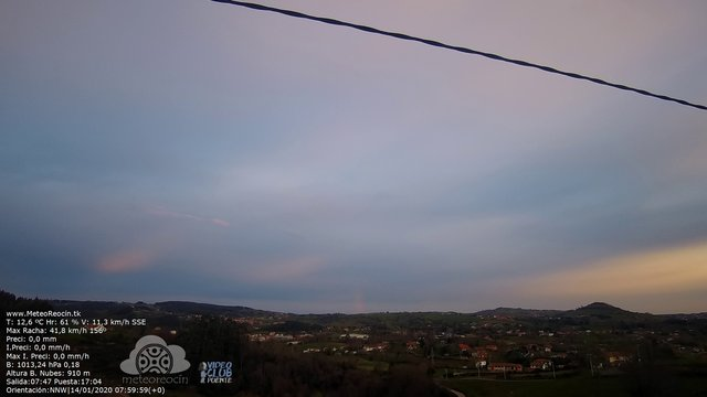 time-lapse frame, MeteoReocín webcam