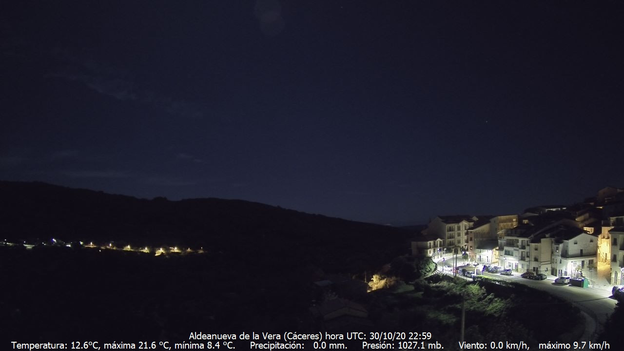 time-lapse frame, Meteogredos webcam