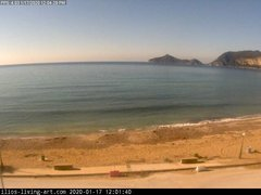 view from Agios Georgios NW Corfu Greece on 2020-01-17