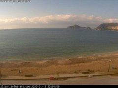 view from Agios Georgios NW Corfu Greece on 2020-01-18