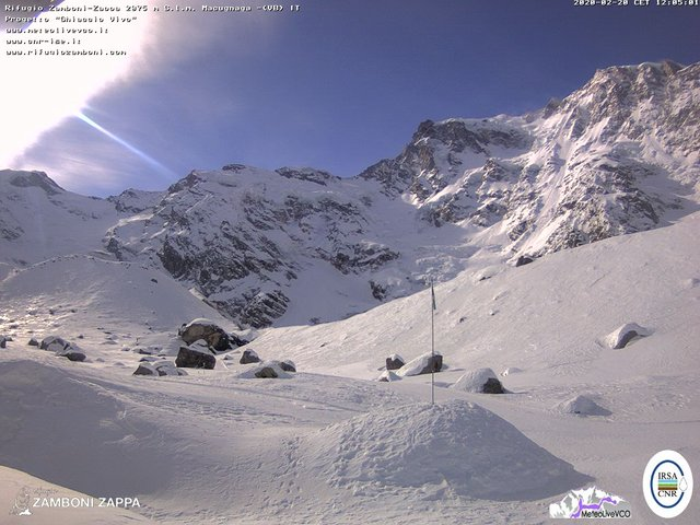 time-lapse frame, Rifugio Zamboni webcam