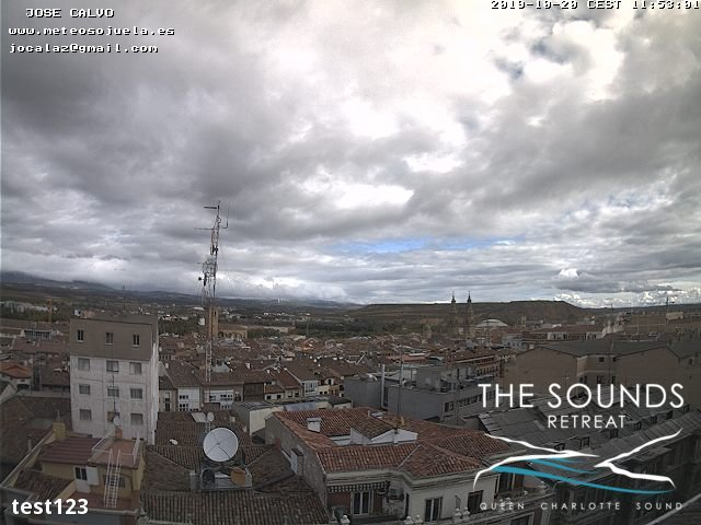 time-lapse frame, 2019-10-20 12:00-19:48 webcam