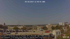 view from University Place Apartments - West Weather on 2019-09-18