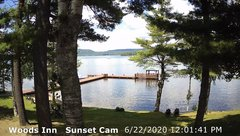 view from 4th Lake, Inlet, NY on 2020-06-22