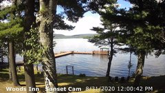 view from 4th Lake, Inlet, NY on 2020-08-31