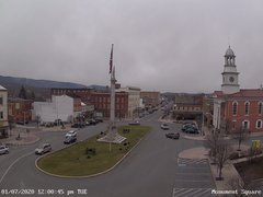 view from 13 East Market Street - Lewistown PA (west) on 2020-01-07