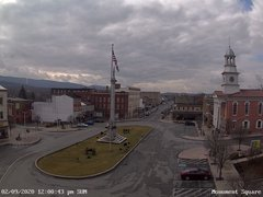 view from 13 East Market Street - Lewistown PA (west) on 2020-02-09