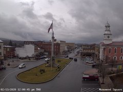 view from 13 East Market Street - Lewistown PA (west) on 2020-02-13