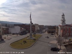 view from 13 East Market Street - Lewistown PA (west) on 2020-02-17