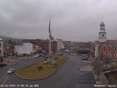 view from 13 East Market Street - Lewistown PA (west) on 2020-02-26