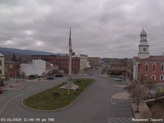 view from 13 East Market Street - Lewistown PA (west) on 2020-03-26