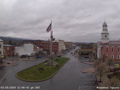 view from 13 East Market Street - Lewistown PA (west) on 2020-03-28