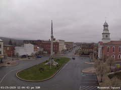 view from 13 East Market Street - Lewistown PA (west) on 2020-03-29