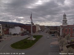 view from 13 East Market Street - Lewistown PA (west) on 2020-03-30