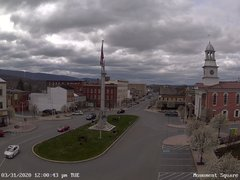 view from 13 East Market Street - Lewistown PA (west) on 2020-03-31