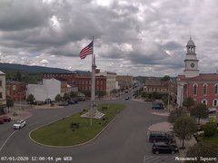 view from 13 East Market Street - Lewistown PA (west) on 2020-07-01