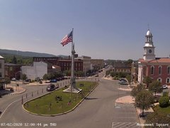 view from 13 East Market Street - Lewistown PA (west) on 2020-07-02