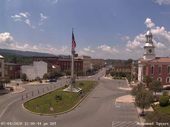 view from 13 East Market Street - Lewistown PA (west) on 2020-07-04