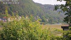view from Webcam in Bad Schandau Sächsische Schweiz on 2021-06-08