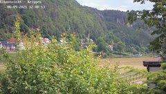 view from Webcam in Bad Schandau Sächsische Schweiz on 2021-06-09